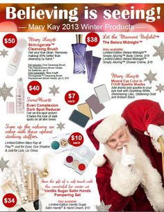 Mary Kay Winter 2013 Products http://www.marykay.com/dspangler.