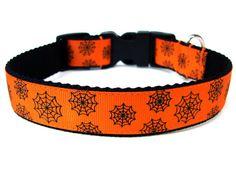 Halloween Dog Collar by Wagologie  Custom Dog Collar handmade in California!    **Win a free Halloween dog collar on Facebook! Ends October 6th***