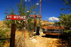 Route 66 - AZ, western section | Not sure if these Burma Sha… | Flickr
