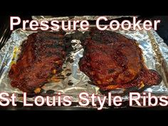 How to Cook St. Louis Style Ribs with Instant Pot Pressure Cooker and Oven Pressure Cooker Ribs, Instant Pot Pressure Cooker, Pressure Cooker Recipes, Pressure Cooking, Slow Cooker, Pressure Pot, Saint Louis Ribs, St Louis Style Ribs, Beef Brisket Recipes