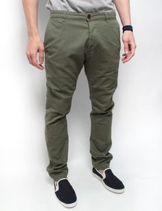 Paura  pantaloni chino Cristian verde oliva