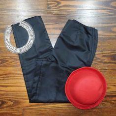 BLACK SATIN PANTS THRIFTED NO TRADE ‼️PRICE FIRM‼️ LOFT Pants