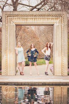 Sophie Ervin - Lauren McKeen - Riley McGuiness - Dallas Arboretum - Spring - Class of 2016 - Senior Model Reps - Liberty High School - Flower Mound High School - Dallas - Senior Portraits - North Dallas - - Stunning - Spring Fashion - Senior Pictures - Ideas for Friends - Beautiful - Tyler R. Brown Photography