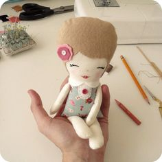 Little Miss Camilla Doll pdf Pattern  Instant by Gingermelon