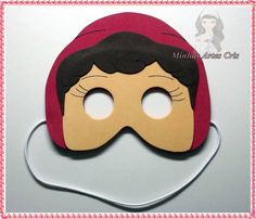 Mascara Chapeuzinho vermelho  feita de eva
