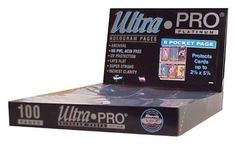Ultra Pro 6 Pocket (Tallcards) Pages (100 Pages) by Ultra Pro. $20.17
