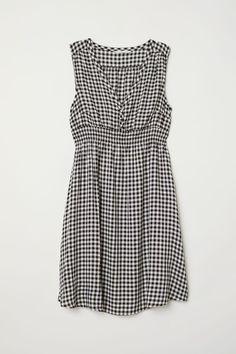 MAMA Robe à motif - Noir/blanc/carreaux - FEMME | H&M FR 4