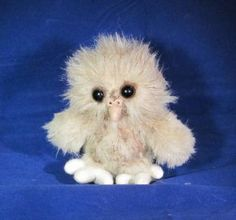 Plush Baby Owl soft sculpture by HayseedBears for $42.50