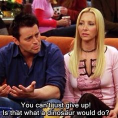 Joey and Phoebe  Friends tv show Funny quotes