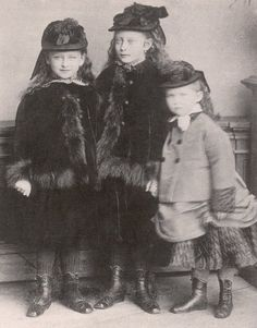 Princess Elisabeth, Princess Victoria and Princess Irene of Hesse.