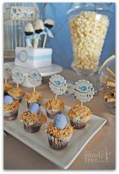 Adorable Bird Baby Shower Theme Ideas! Easy DIY cloth table garland, yummy desserts and cute decorating ideas! #birdbabyshower