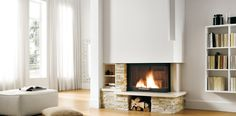 Palazzetti _ Pellet and wooden stoves can be energy efficient AND beautiful (Renewable Heat Incentive on biomass applies) Wood Burner, Mantle, Liverpool, Sweet Home, Stoves, Home Decor, Fireplaces, Lab, Beautiful