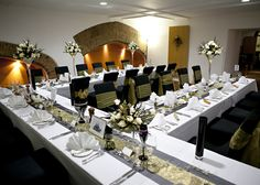 Our dining rooms can sit 120 guests for a formal 3 course wedding breakfast, dressed and decorated however you'd like to fit your theme. www.missendenabbey.co.uk/weddings/