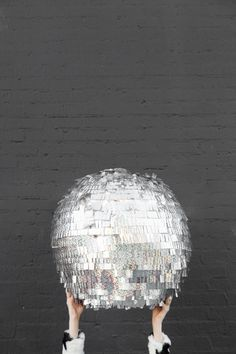 DIY Disco Ball Piñata - Perfect for a New Year's Eve party or any party!