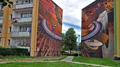 Malunek można podziwiać na ścianach dwóch bloków na gdańskiej Zaspie. Tym razem artyści oddali hołd malarzom XX wieku. To już czterdziesta praca adeptów Gd...
