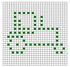 Ravelry: Tractor Bobble Chart pattern by Kari Philpott Bobble Stitch Crochet Blanket, Crochet Stitches Chart, Graph Crochet, Crochet Square Patterns, Crochet Motifs, Crochet Dishcloths, Crochet Blocks, Crochet Squares, Crochet Blanket Patterns