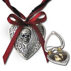 Amazon.com: The Reliquary Heart Locket Pendant by Alchemy Gothic, England: Jewelry