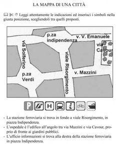 Mappe per la scuola geografia italia emma pinterest for Una citta sulla garonna