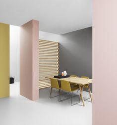 Just Chair, Nyhavn Vases, Slice Table Top, Buk Table Legs