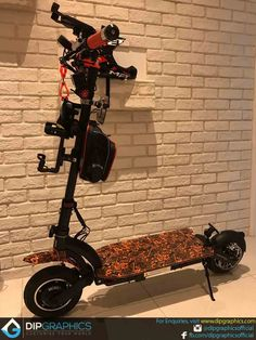 Hydro Dipped Dualtron 2 Electric Scooter in Orange Joker - DipGraphics E Scooter, Electric Scooter, Evo, Singapore, Joker, Things To Come, Orange, Bicycles, Electric