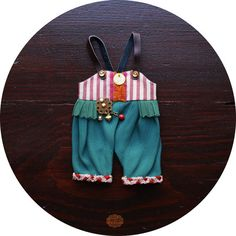 Circus Bloomers no2 - colorful & oversized overalls - doll clothes for Blythe Licca and Pure Neemo - by KarolinFelix