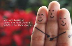 Somos más felices cuando queremos más a los demás de lo que ellos nos quieren