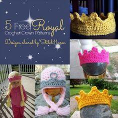 CORONAS 5 Free Royal Crochet Crown Patterns