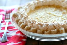Egg Nog Cream Pie--Gets an A+!! Everyone that has tried it has loved it and it could not be any easier to make!