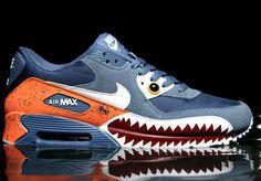 "buy online 616d8 91482 Nike Air Max 90 ""Piranha"" Customs By Emilio Zuniga Custom Sneakers, Custom  Shoes"