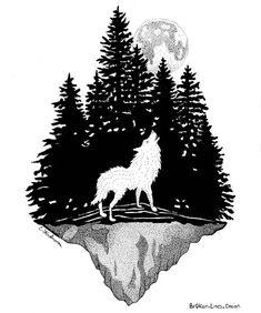 Viking Tattoo Sleeve, Tribal Sleeve Tattoos, Howling Wolf Tattoo, Wolf Howling, Phoenix Tattoo Design, Skull Tattoo Design, Tattoo Designs, Wolf Tattoos, Animal Tattoos
