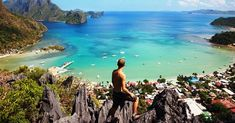 Hit the road - the trails around El Nido, Palawan, Philippines provide great views of the surrounding limestone landscape Philippines Beaches, Philippines Travel, Thailand Travel, Asia Travel, Travel Tips, Exotic Beaches, Tropical Beaches, El Nido Palawan, Paradise On Earth