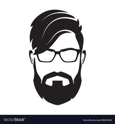Bearded man s face hipster character fashion vector image on VectorStock Fashion Silhouette, Silhouette Clip Art, Beard Logo, Lord Shiva Hd Images, Hipster Drawings, Beard Art, Fashion Vector, Hipster Man, Sketch Painting