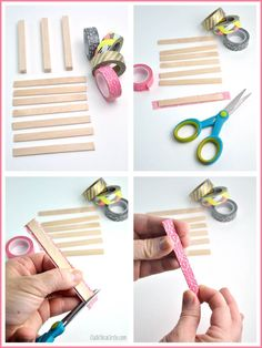 How to Turn Craft Sticks into Mini Wood Pallet