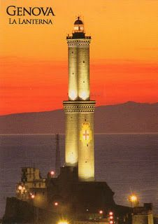 This famous and magnificent lighthouse is located near the ferry-boat terminal in Genoa, capital of the region of Liguria.
