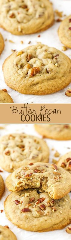 Butter Pecan Cookies - soft, chewy and delicious!