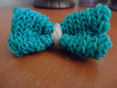 Rainbow loom hair bow by TinyHangingHeart on Etsy, $5.00