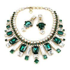 haute couture jewelry   Haute Couture Art Deco Inspired Emerald Green ...   Jewelry - Contemp ...