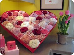 Giant Valentine Heart Box of Yarn!