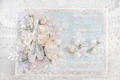 Spread your wings..: Открытка с пуантами и самодельные цветы пущены в работу.)