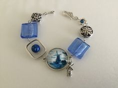 Your place to buy and sell all things handmade Bohemian Bracelets, Bohemian Jewelry, Beaded Bracelets, Dutch Windmill, Bracelets Bleus, Prom Necklaces, Bleu Turquoise, Funky Jewelry, Wire Necklace
