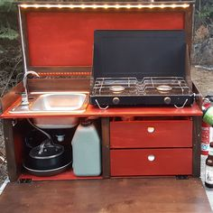 Camping and road trips are a heck of a lot of fun, despite lacking many of the creature comforts that come from a house and its amenities. We're all for fire-cooked meals, but sometimes, you … Truck Camping, Van Camping, Camping Hacks, Bushcraft Camping, Camping Survival, Motorhome, Suv Camper, Kitchen Kit, Chuck Box