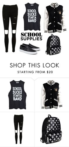"""back to school"" by unicorntommo on Polyvore featuring мода, Vans и school"