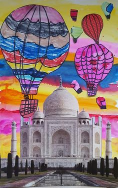 I don't get the chance to travel much. But that doesn't mean I don't love seeing, hearing and reading about exotic locales. Anthony Bourdaine, The Travel Channel, The Amazing Race, and travel memoir b Fall Art Projects, School Art Projects, 7th Grade Art, Jr Art, Ecole Art, Autumn Art, Art Lesson Plans, Art Classroom, Art Club