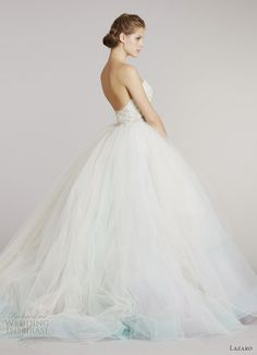 multi color tulle ball gown lazaro fall 2012