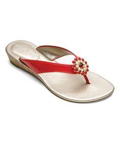Look what I found on #zulily! Red Gwen Sandal & Snap Set #zulilyfinds