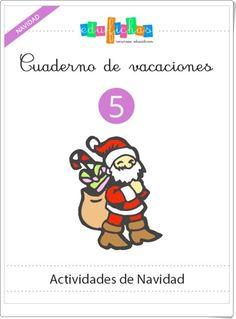 """Cuaderno de Vacaciones 5: """"Actividades de Navidad de Educación Infantil"""""""