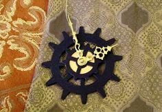 Black Gold Gear Steampunk Yule Cog Ornament by Antickquities, $8.00