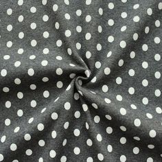 Sweatshirt Baumwollstoff angeraut Artikel Jogging  Punkte groß  Farbe Dunkel-Grau meliert