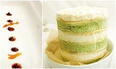 Matcha and Vanilla Mousse Sponge Layer Cake