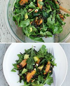 Arugula, Wild Rice & Apricot Salad - Click image to find more Food & Drink Pinterest pins